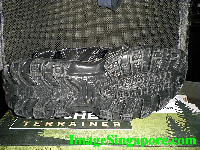 Skechers Terrainer - very strong rubber sole and anti slip as well.
